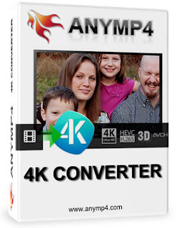 AnyMP4 4K Converter is easy-to-use 4K Video Converter Software, which can convert any video to 4K H.265 MP4, 4K H.264 MP4, 4K AVI and more video formats.
