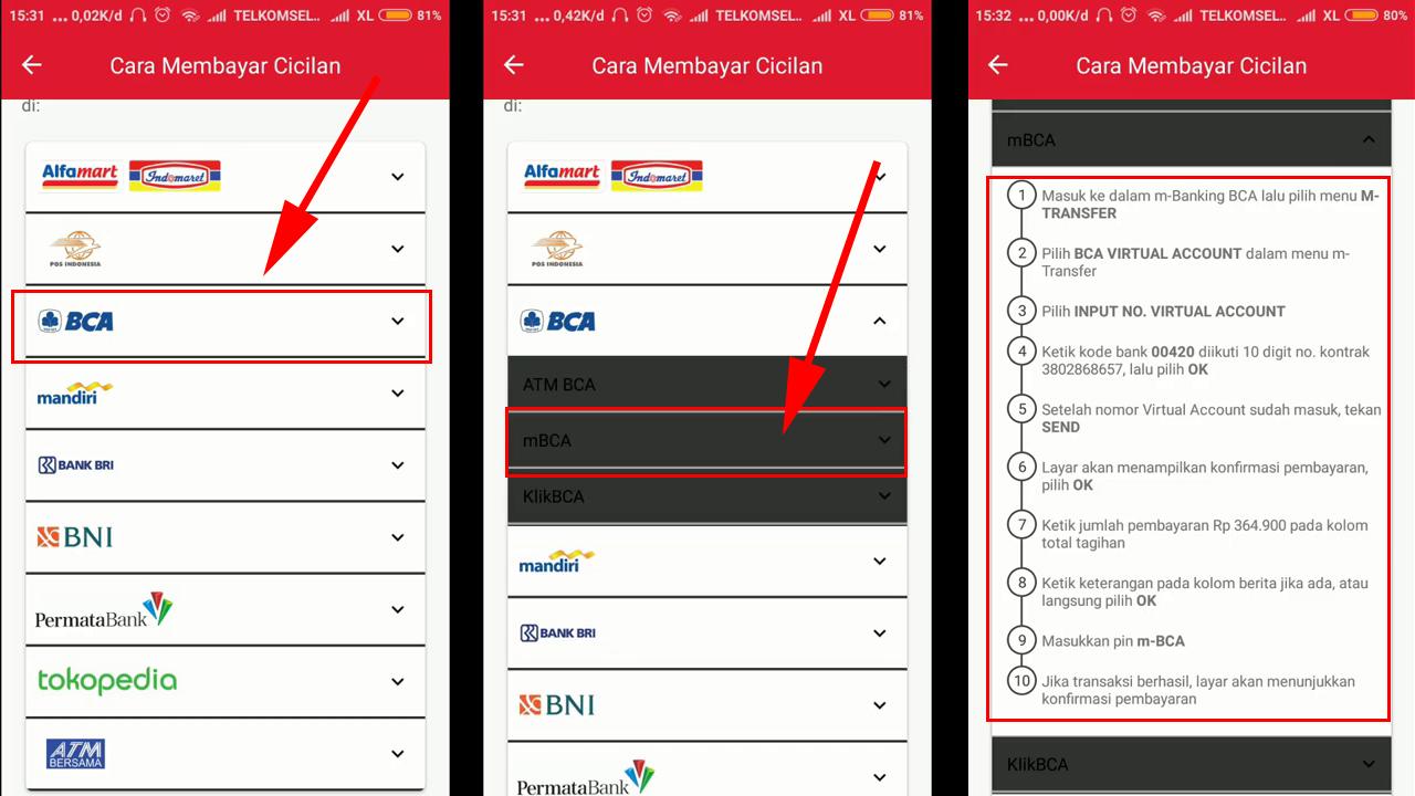 cara membayar tagihan home credit via