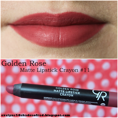 Golden Rose Matte Lipstick Crayon #11