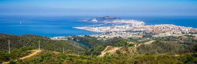 Vista desde el Mirador de Isabel II en Ceuta