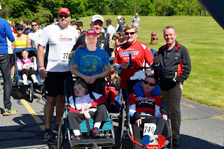 Start of the 2014 race with Team Hoyt