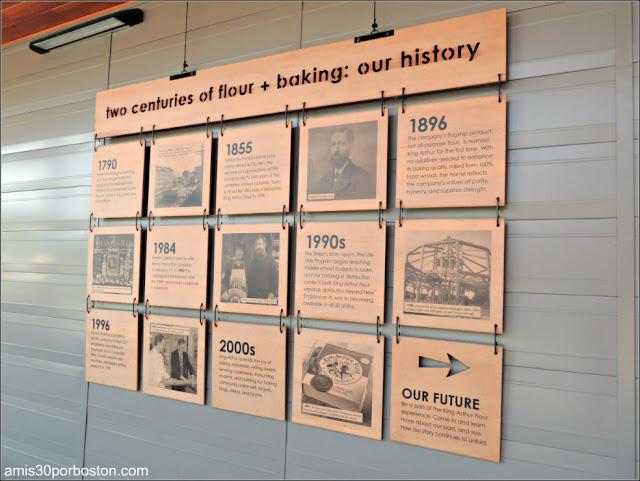 Terraza de la Tienda Insignia de la King Arthur Flour: Historia