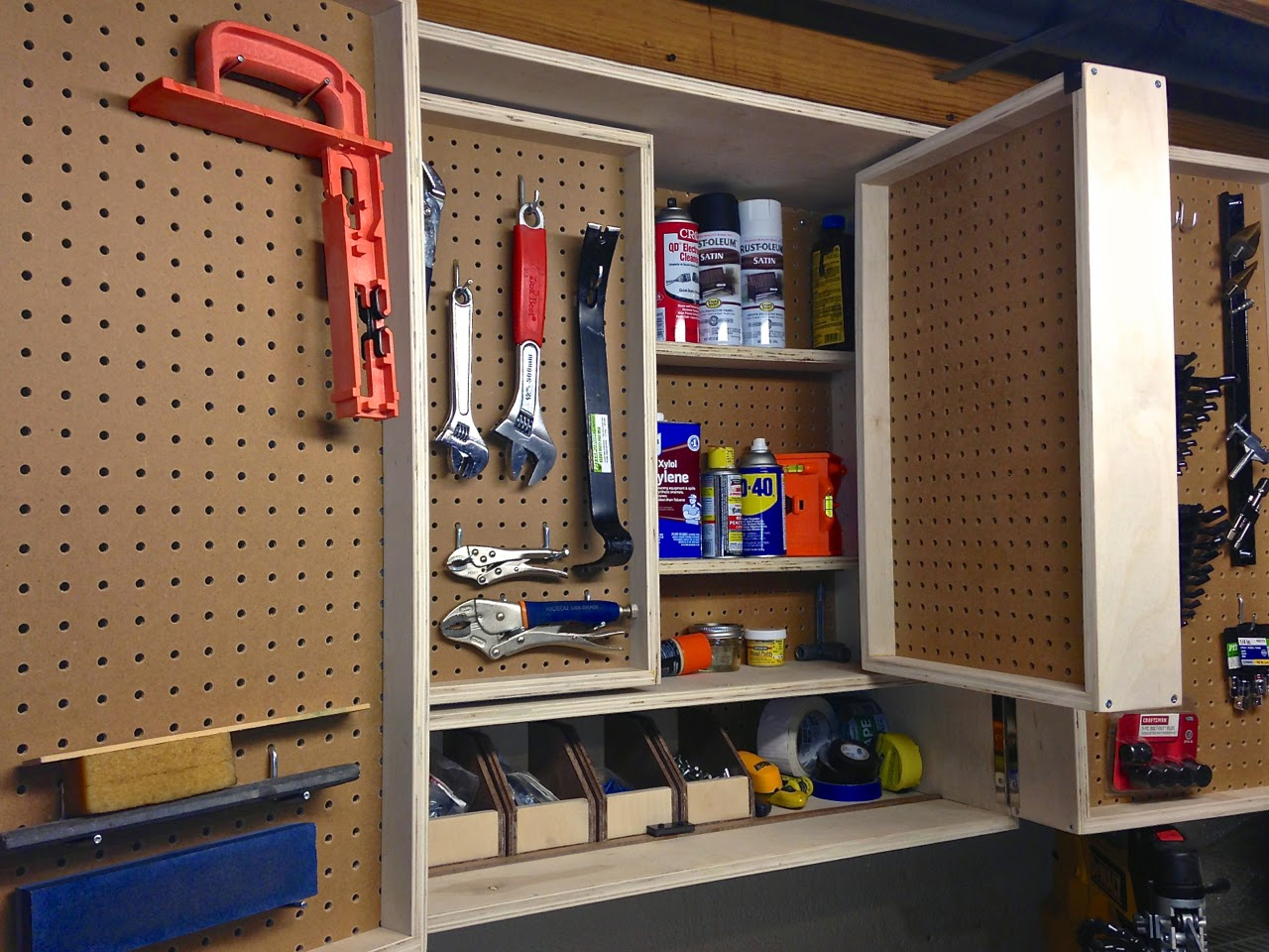 The Project Lady: Pegboard Tool Storage Cabinet Project