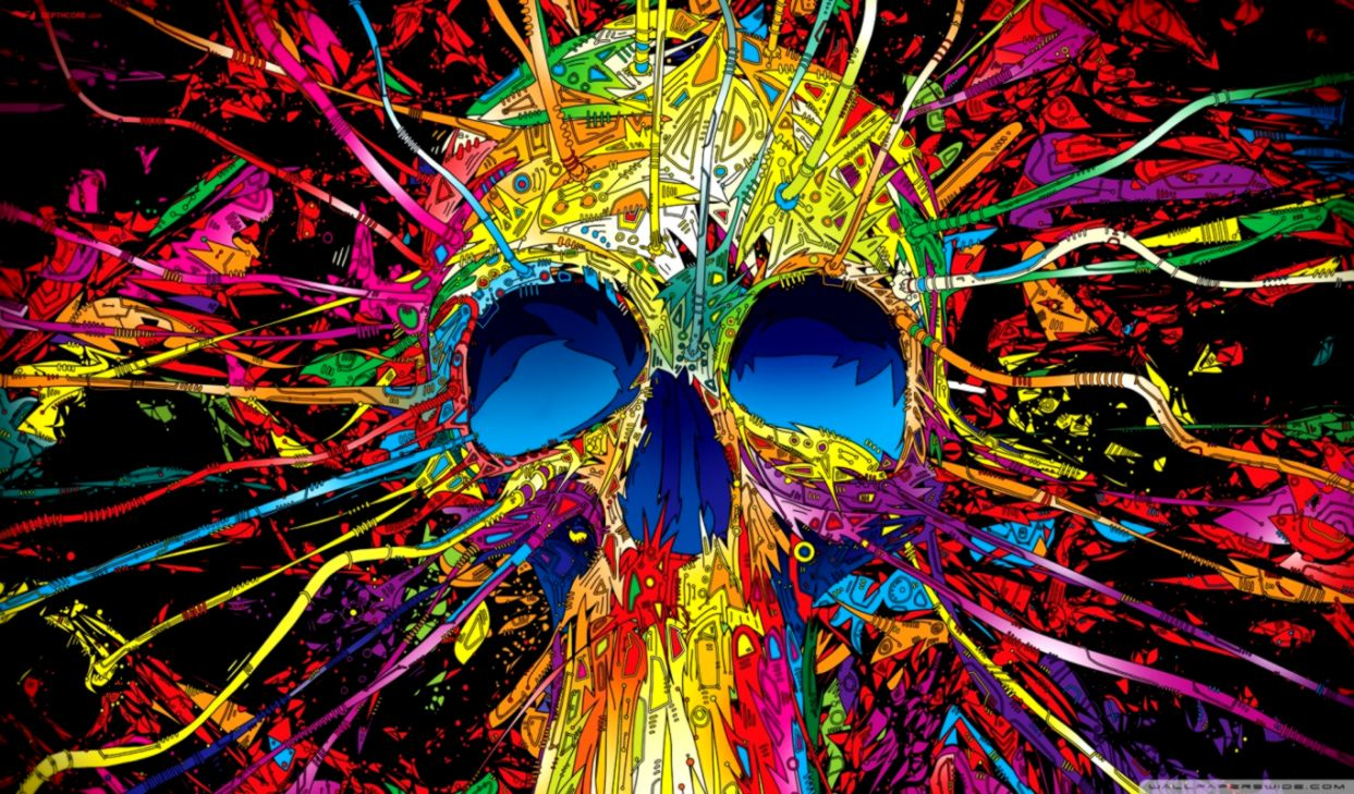 Abstract Skull Colorful Wallpapers Hd Like Wallpapers