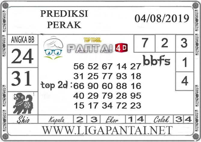 """PREDIKSI TOGEL """"PERAK"""" PANTAI4D 04 AGUSTUS 2019"""