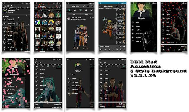 BBM mod Animated Style theme v3.3.1.24 Apk terbaru