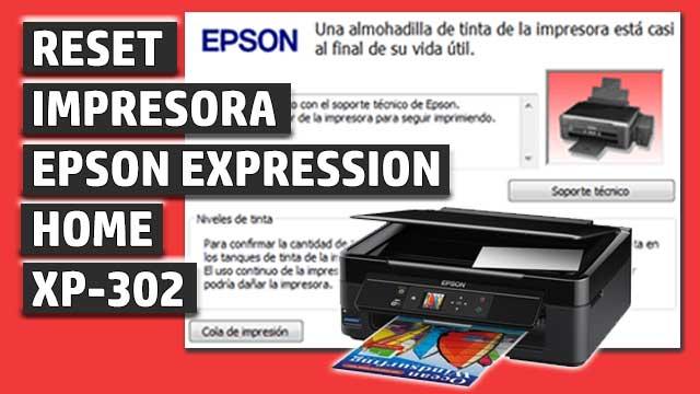 Reset impresora EPSON Expression Home XP-302