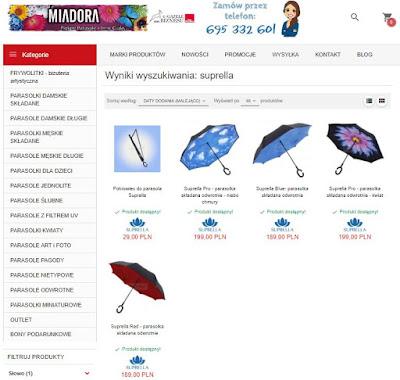 Parasole Suprella w sklepie Miadora.pl