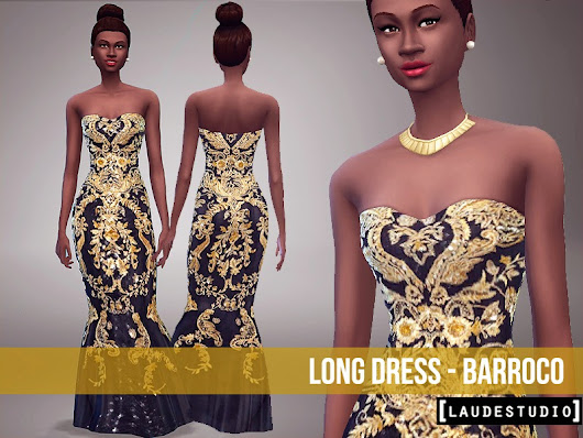 Laude Studio : Long Dress - Barroco #SIMS 4
