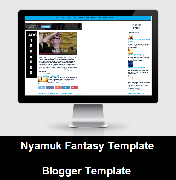 Template Nyamuk Fantasy Blogger Version