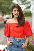 Rhea Chakraborty in Red Crop Top and Denim Shorts Spicy Pics ~  Exclusive 160.JPG