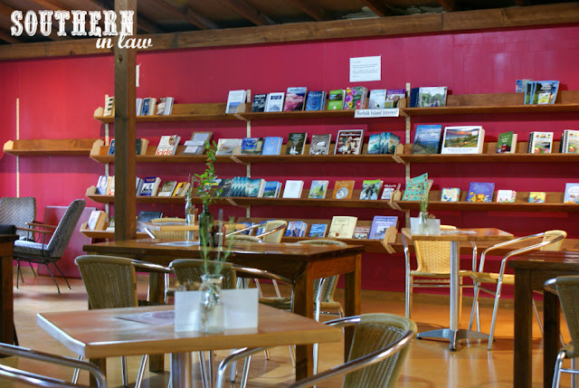 Books at The Golden Orb Cafe Norfolk Island