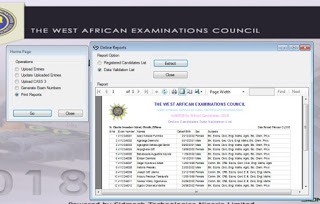 Print WAEC Validation List