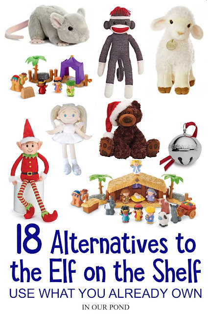 18 Alternatives to the Elf on the Shelf // In Our Pond // toys for Christmas countdown // Advent fun