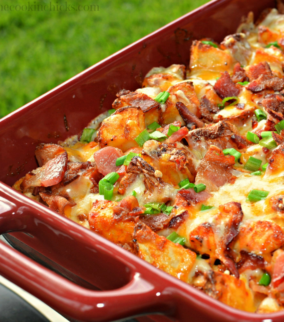 #Recipe : Loaded Chicken Potato Casserole
