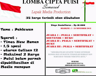 Lomba Puisi 2016 dari Lapak Media Production