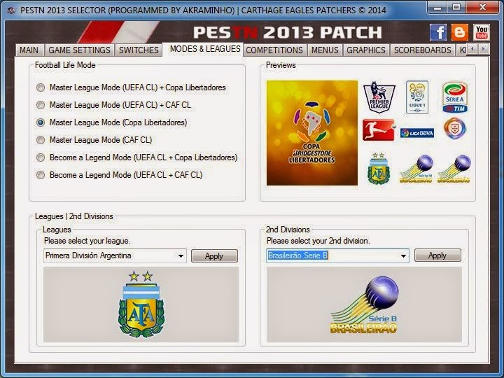 CARTHAGE PATCHERS PES 2013 TÉLÉCHARGER EAGLES