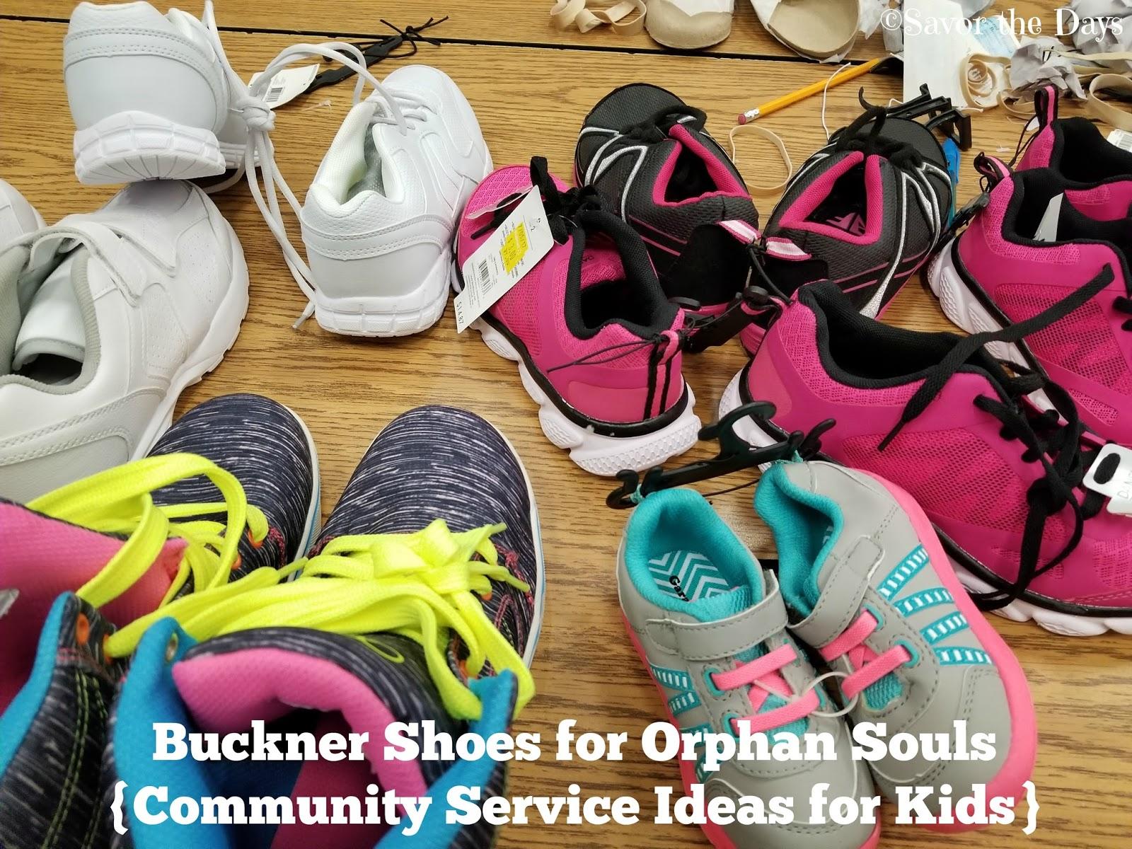 savor the days: buckner shoes for orphan souls {community service