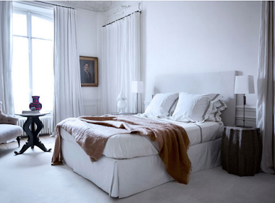 Gilles & Boissier design white bedroom via belle vivir blog
