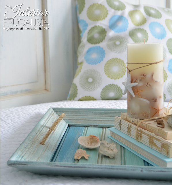 Coastal Picture Frame Serving Tray
