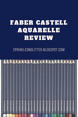 Sprinkle On Glitter Blog// Faber Castell Aquarelle Review