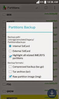 EFS Partition backup and restore(Backup your imei,bt serial
