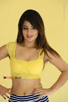 Cute Telugu Actress Shunaya Solanki High Definition Spicy Pos in Yellow Top and Skirt  0151.JPG