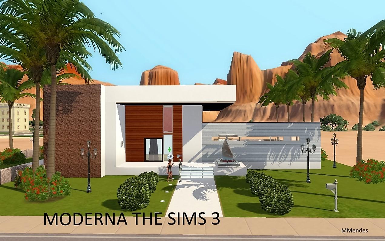 Artes cria es de maria mendes criando lotes the sims 3 e 4 for Casas sims 4 modernas
