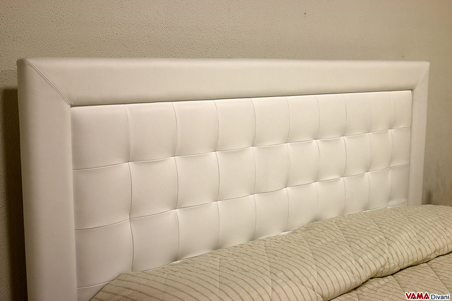 arredamento camera da letto - blog arredamento - In Pelle Bianca Con Letti Singoli Divano Letto