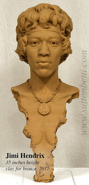 Hendrix sculpture