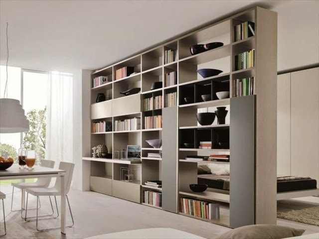 View in gallery Elegant bookshelves can be used to create a more eloborate  composition