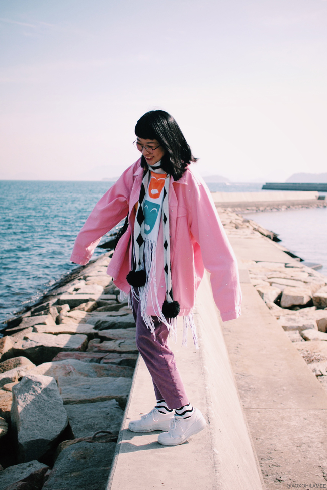 Japanese Fashion Blogger,MizuhoK & KanahoM, hang out,cafe,sea,fun,laugh,selfie,tree,art,photo shooting