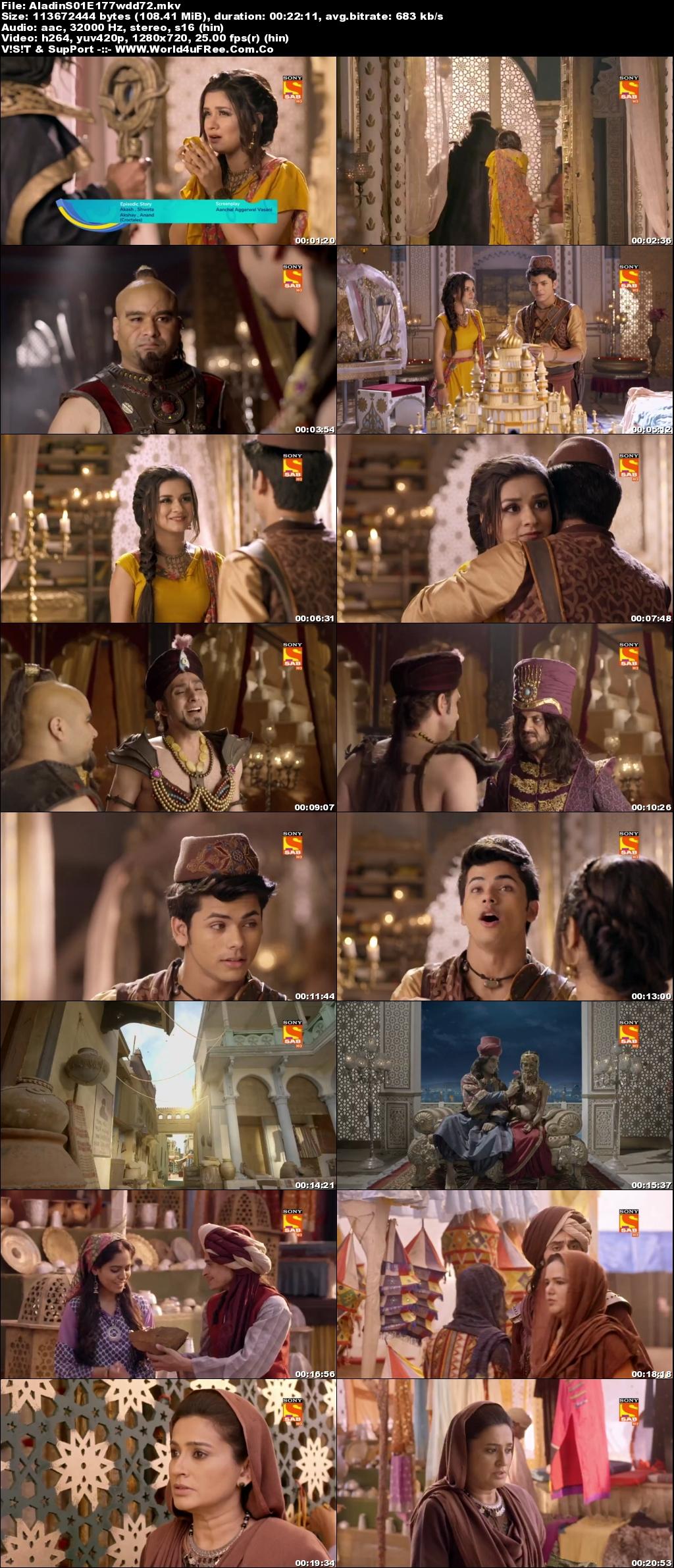 Screenshots Of Hindi Show Aladdin – Naam Toh Suna Hoga 2019 Episode 173 300MB 720P HD