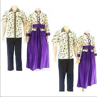 model baju batik sarimbit pasangan modis