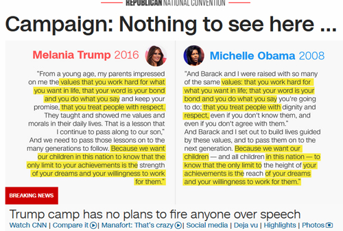 http://www.cnn.com/2016/07/19/politics/melania-trump-michelle-obama-speech/index.html