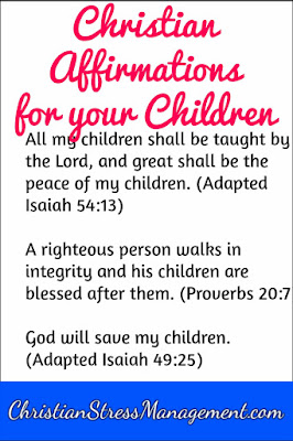 Christian affirmations for your children from the Bible