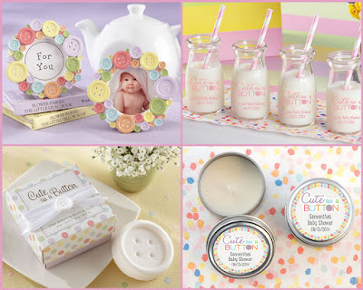 new little family with cute as a button baby shower favors at hotref