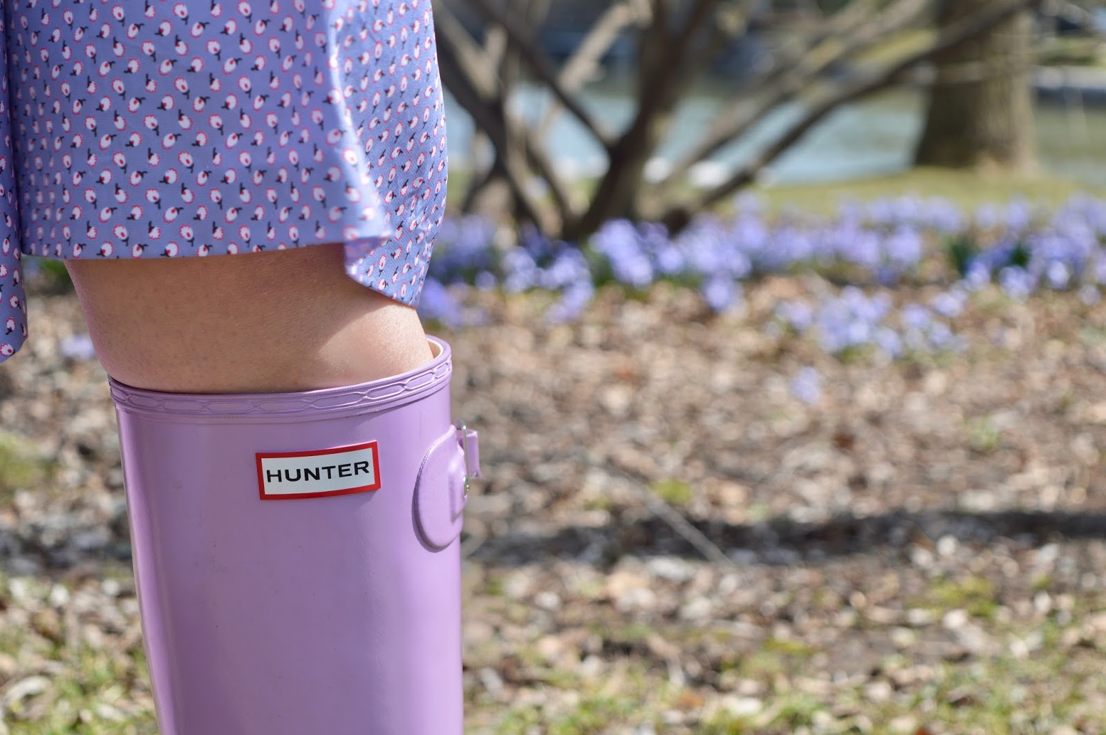 Lavender Hunter boots