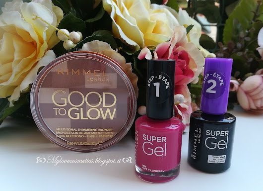 Rimmel London , recensioni Terra Multi tonal GOOD TO GLOW e smalti Super Gel