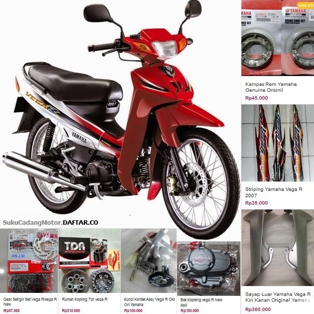 Daftar Harga Sparepart Yamaha Vega R Lama 105cc