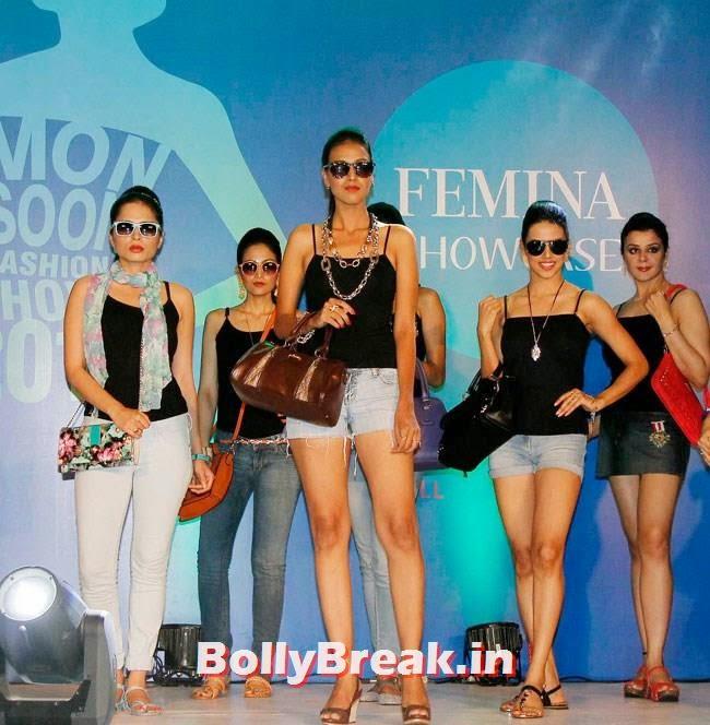 , Indian Models Ramp Walk in Shorts for Femina Festive Fashion Show 2014