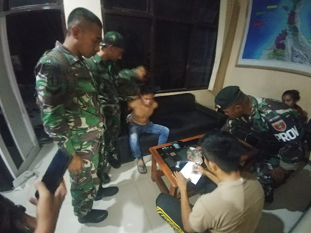 Prajurit TNI Tangkap Pengedar Narkoba di Dermaga Donggala Palu