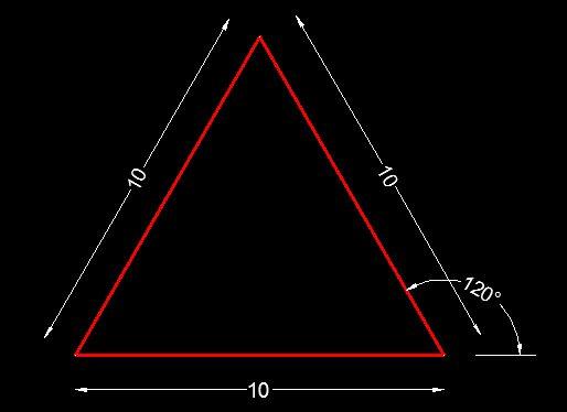 membuat segitiga di autocad