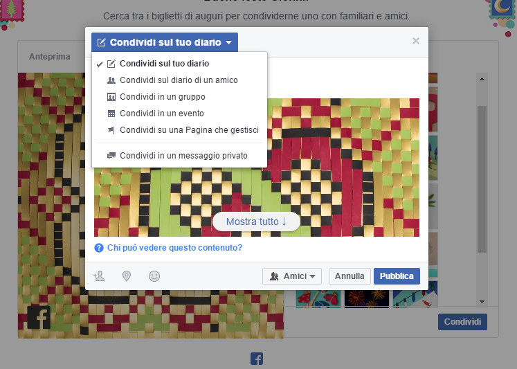 Su facebook disponibili i biglietti di auguri per le feste - Er finestra android ...