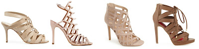 One of these pairs of caged sandals is from Manolo Blahnik for $1,145 and the other three are under $100. Can you guess which one is the designer pair? Click the links below to see if you are correct!