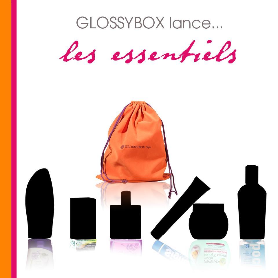 blog l 39 univers de mel box glossy box les essentiels. Black Bedroom Furniture Sets. Home Design Ideas