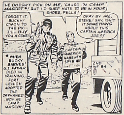 Origin of Captain America, Tales of Suspense #63, Bucky Barnes, camp mascot