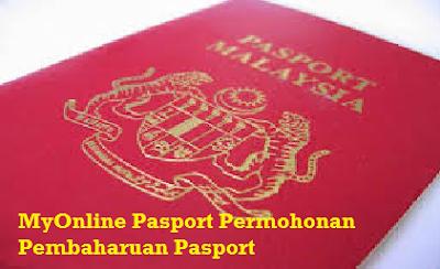 Permohonan Pembaharuan Pasport MyOnline Pasport