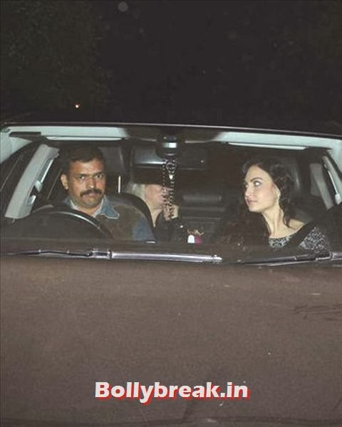 Salman's favourite Bigg Boss 7 contestant Elli Avram came along with her family for his birthday bash. The duo will be seen performing to the song Mashallah, on the finale episode of Bigg Boss. The song was picturised on Salman Khan and Katrina Kaif in Ek Tha Tiger., Salman Khan Birthday bash Pics