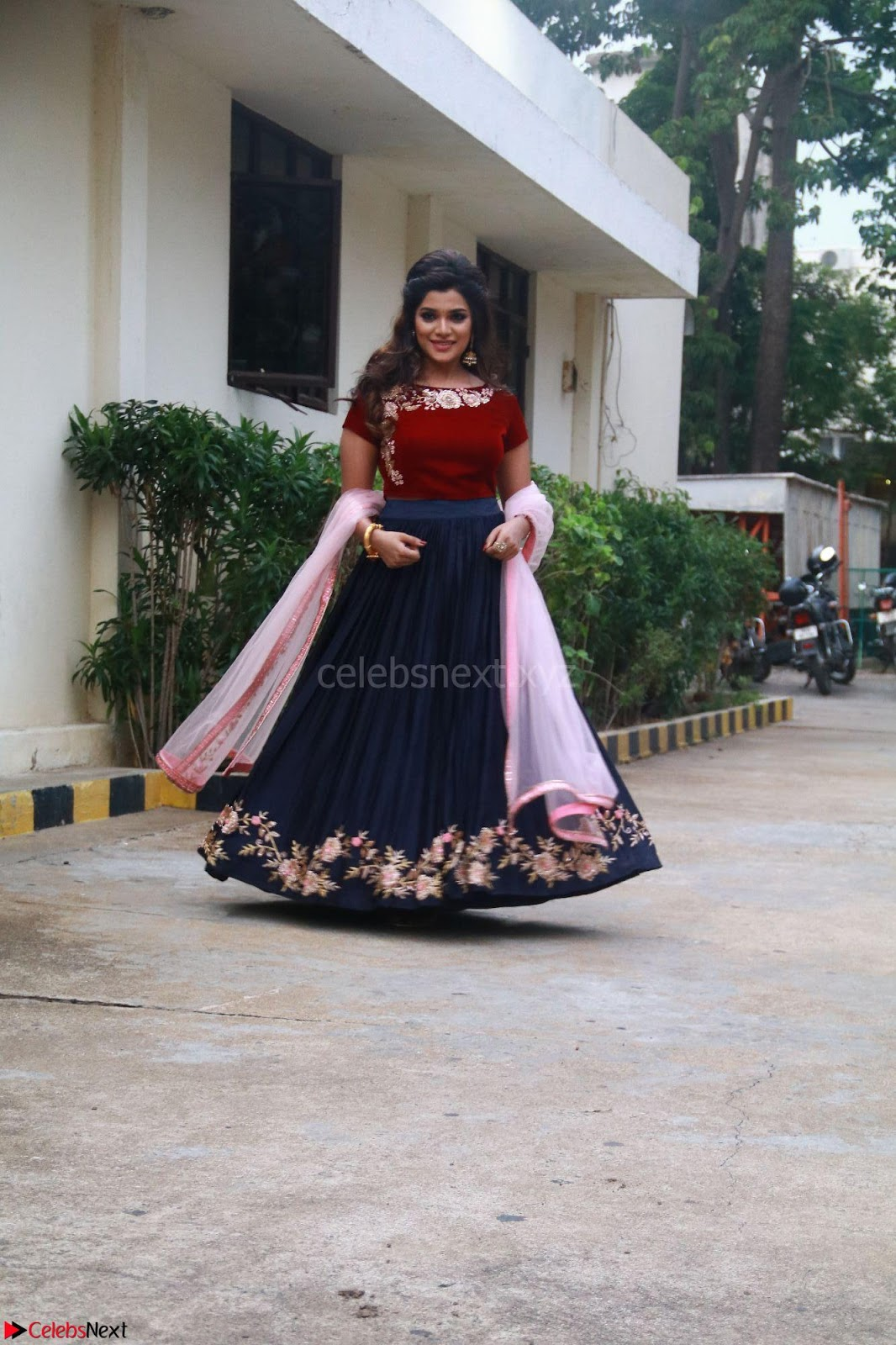 Actress Aathmika in lovely Maraoon Choli ~ CelebsNext Exclusive Celebrities galleries